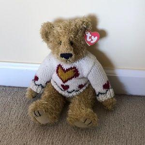 Ty teddy bear with sweater NWT